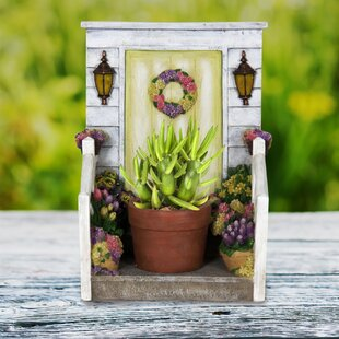 Douglaston LED Planter with Door Statue by August Grove