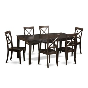 Burner 7 Piece Dining Set Red Barrel Studio