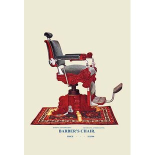 Hydraulic Barberu0027s Chair Graphic Art Print On Canvas