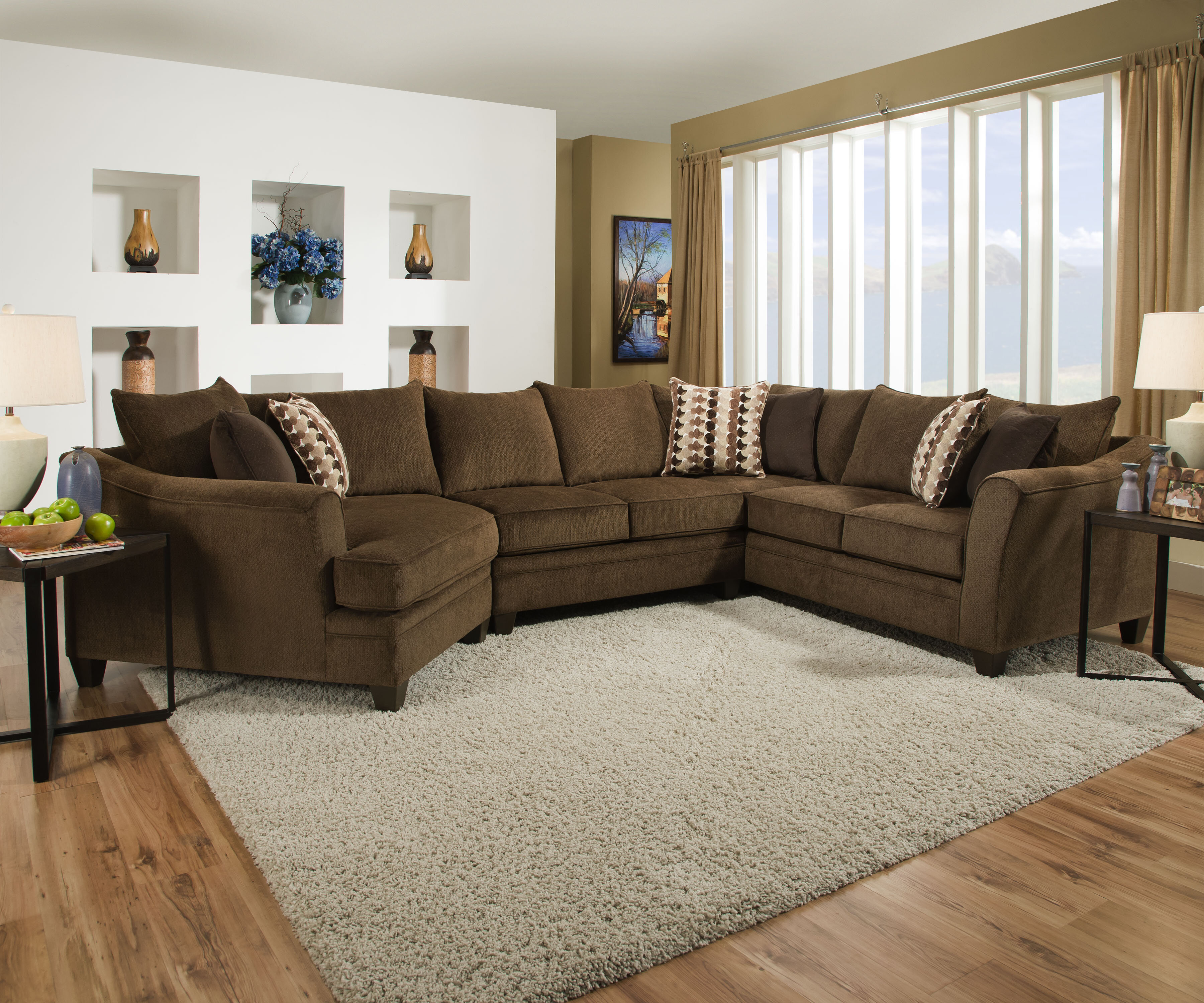 Latitude Run Teri 154 Chenille Right Hand Facing Large Sectional Reviews Wayfair