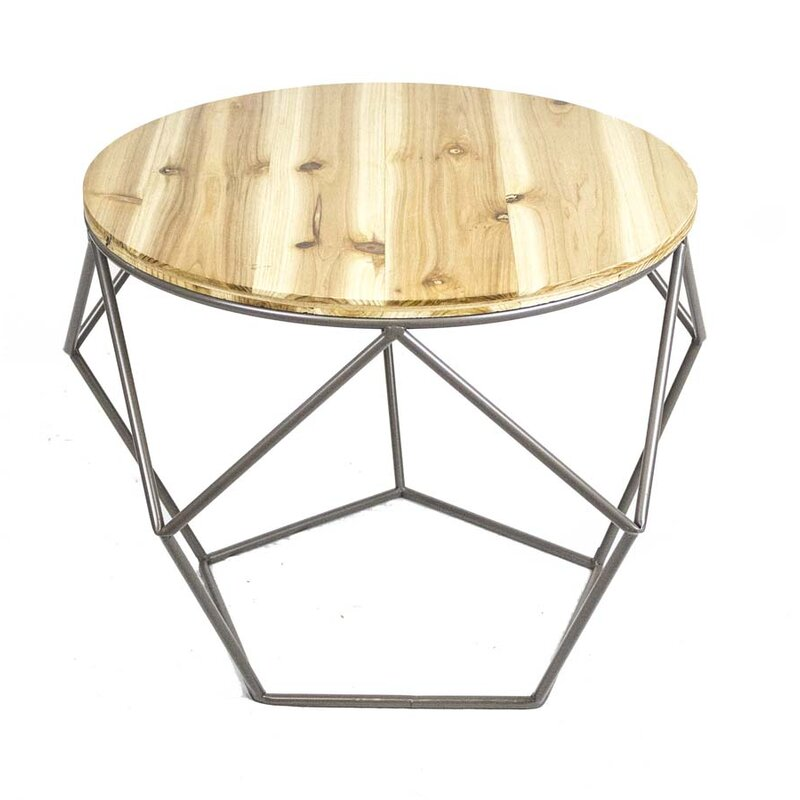 Sagebrook Home Wood Top End Table