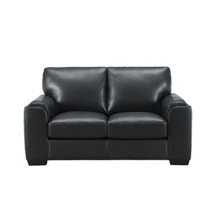 Hadley Craft Leather Loveseat by Orren Ellis