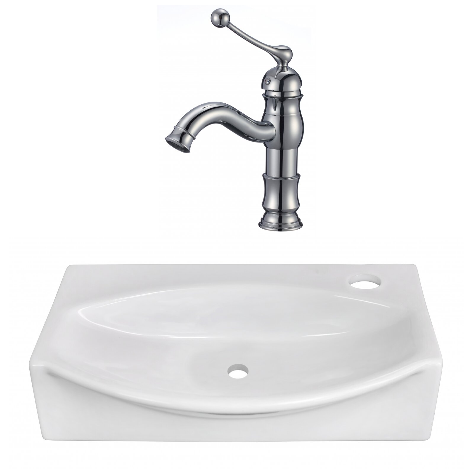 Avanities Above Counter Ceramic Specialty Vessel Bathroom Sink With Faucet And Overflow Wayfair