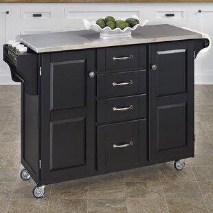 High Quality Adelle A Cart Kitchen Island With Stainless Steel Top