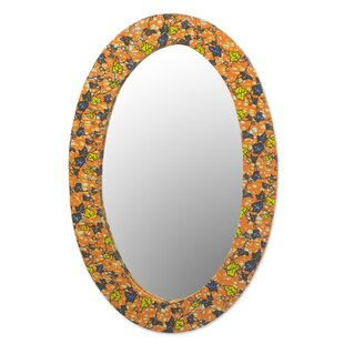 Bloomsbury Market Portchester Sunrise Flowers Wood Wall Mirror