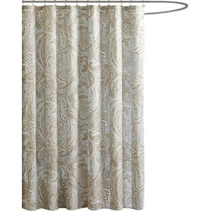 Find The Best Shower Curtains Wayfair - Beige and blue shower curtain
