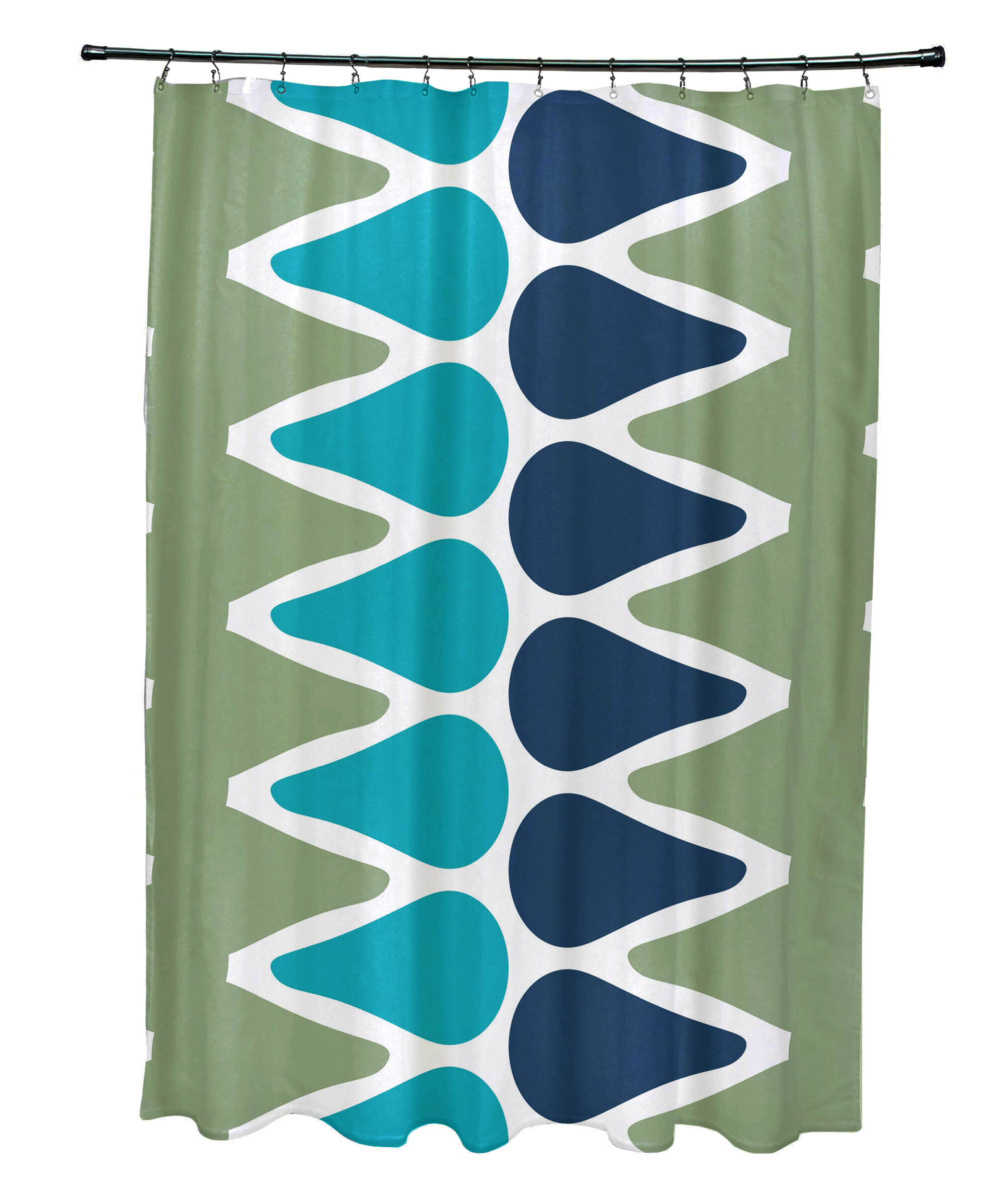 Latitude Run Doretta Picks Single Shower Curtain Wayfair