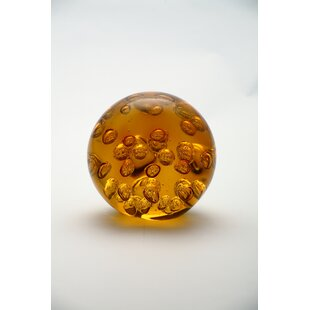 Diamond Star Glass Ball Paperweight
