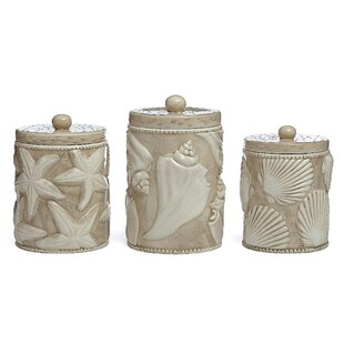 Shell 3 Piece Kitchen Canister Set