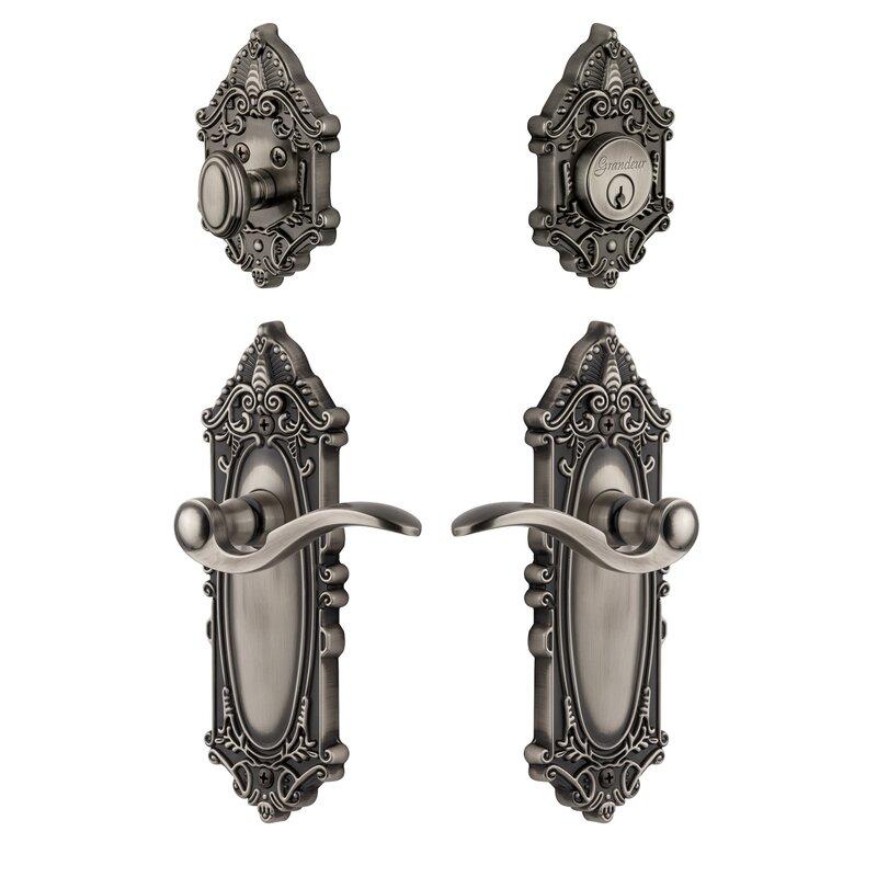 Grandeur Complete Grande Victorian Entry Lever Set With Single Cylinder Deadbolt Wayfair