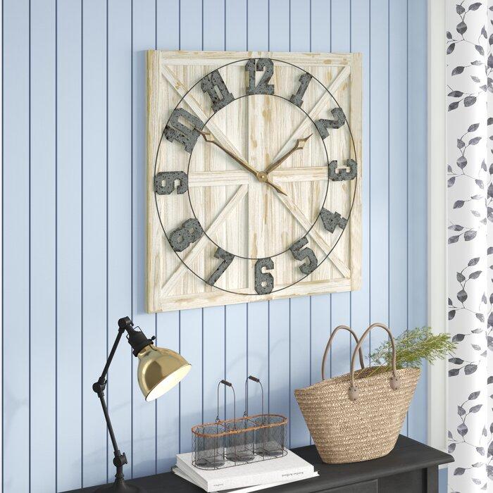 Oversized Perrinton Rustic Farmhouse 31 5 Wall Clock