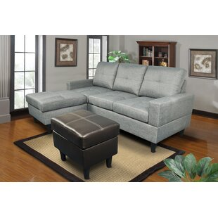 Sowa Simple Reversible Sectional With Ottoman Ebern Designs