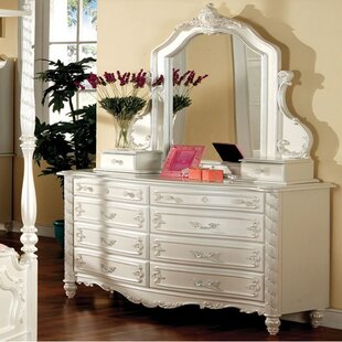 Price comparison Cypress 8 Drawer Double Dresser with Mirror by Rosdorf Park Reviews (2019) & Buyer's Guide