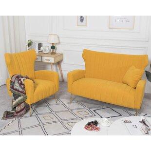 Lauretta 2 Piece Standard Living Room Set by Mercer41