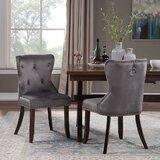 Taj Tufted Velvet Upholstered Dining Chair (Set of 2) by Rosdorf Park
