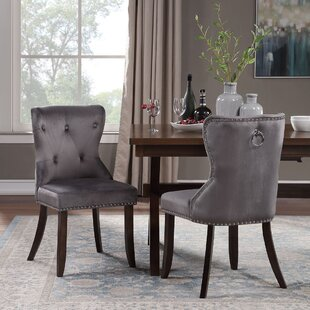 Taj Tufted Velvet Upholstered Dining Chair Set of 2 by Rosdorf Park