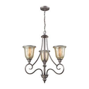 Fleur De Lis Living Waller 3-Light Shaded Chandelier