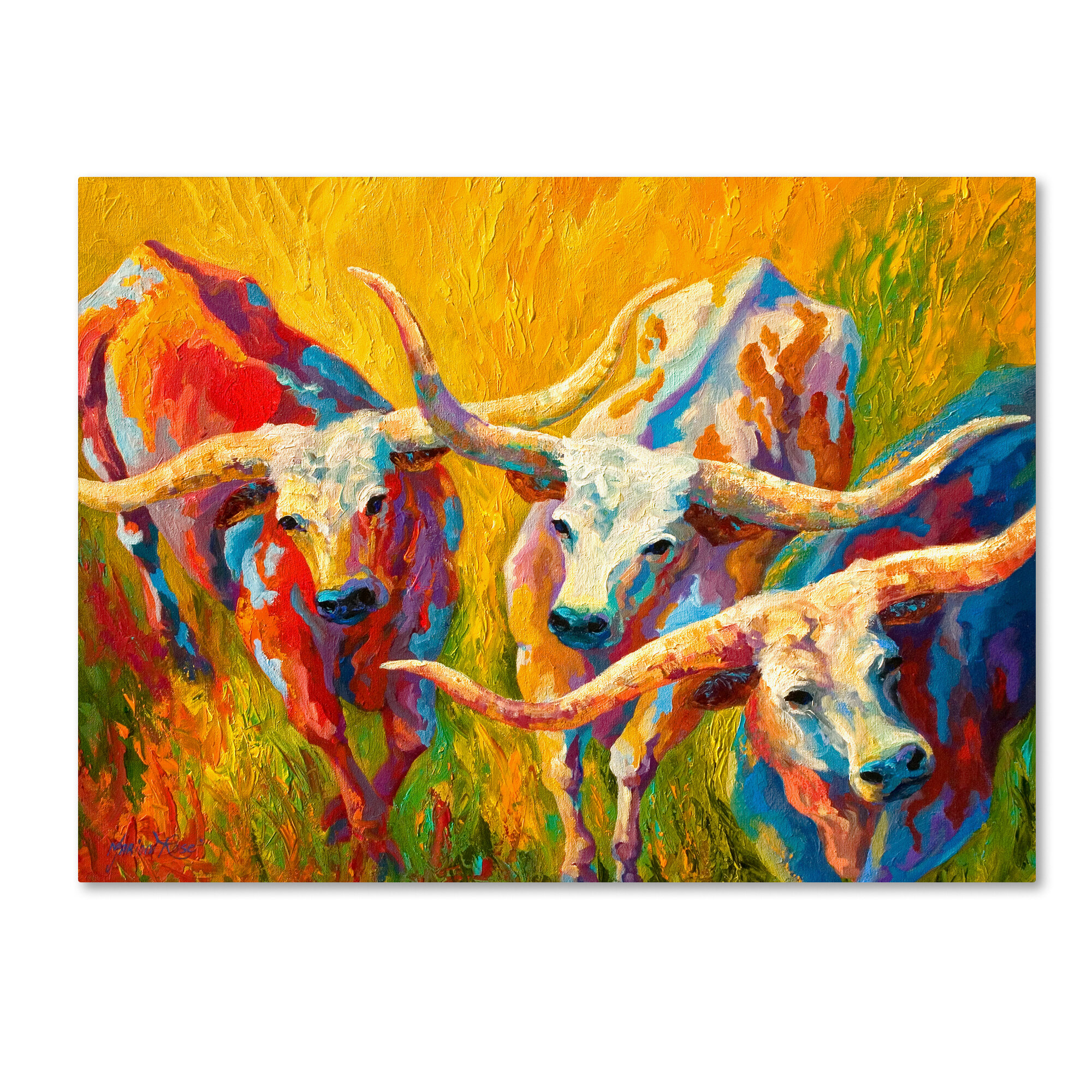 Red Barrel Studio \'Dance of the Longhorns\' Print on Wrapped Canvas ...
