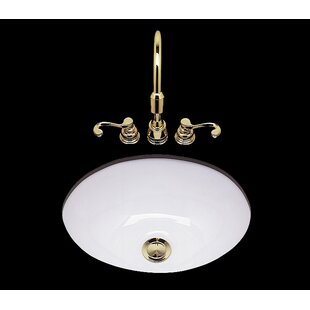 Bates & Bates Teri Ceramic Circular Drop-In Bathroom Sink
