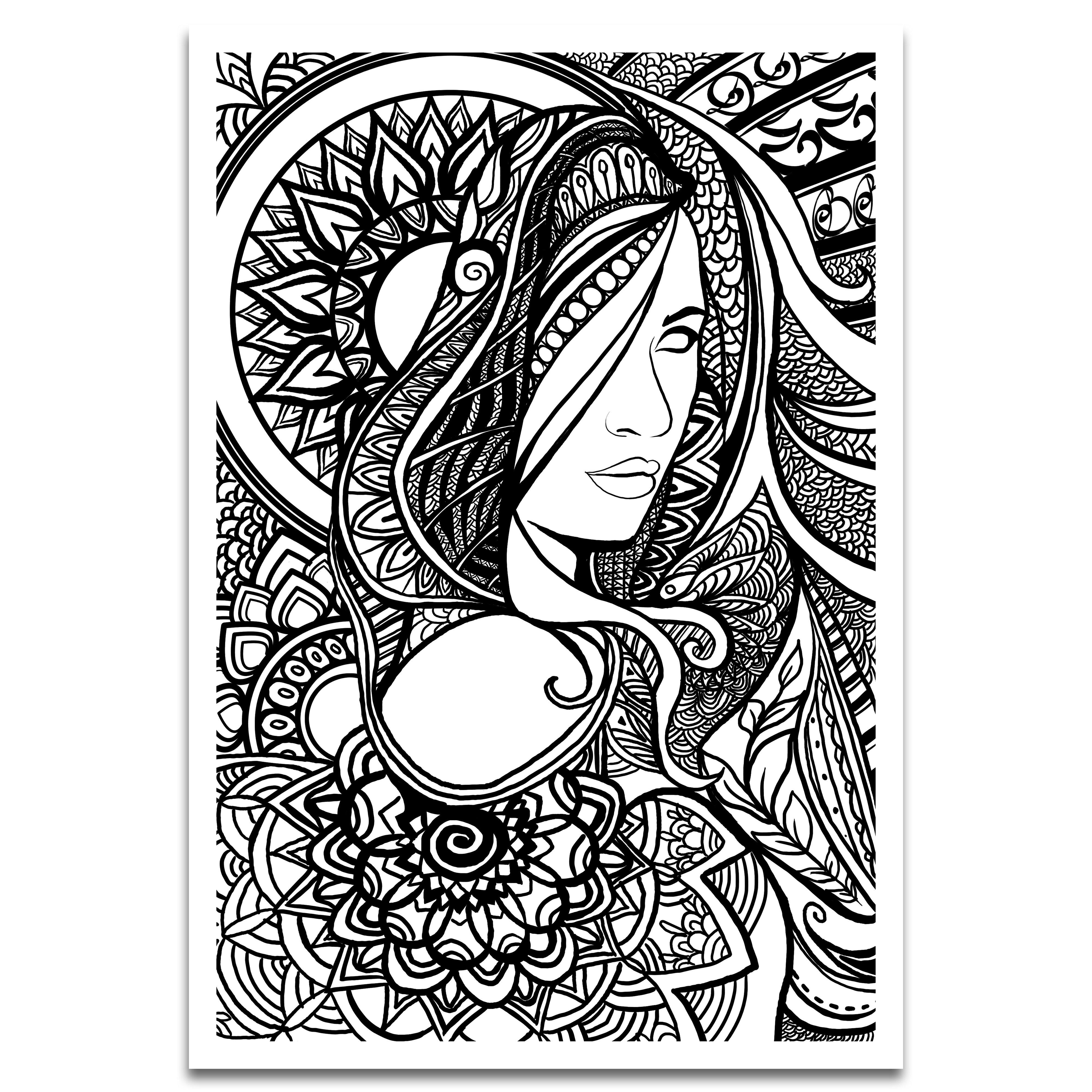 Lady Mandala Clear Graphic Art Print
