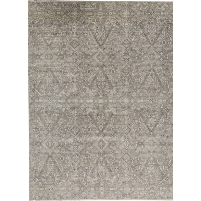 Bokara Rug Co Inc Neo Villa Oriental Hand Knotted Gray Area Rug Wayfair