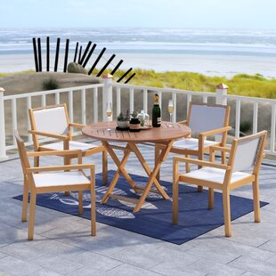 Claris 5 Piece Dining Set by Beachcrest H..