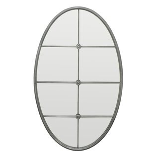 Three Hands Co. Mullion Detail Oval Decorative Wall Mirror