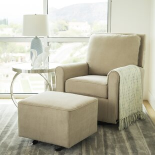 Barnwell Swivel Glider And Ottoman By Harriet Bee