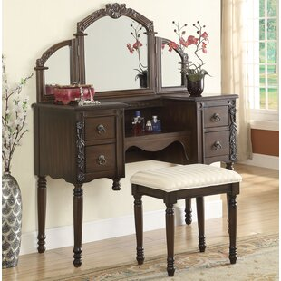 Astoria Grand Ringold Vanity Set with Mirror