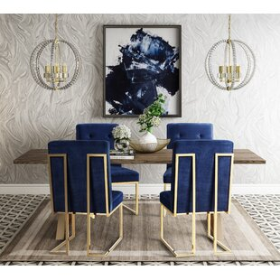 Alvaro 5 Piece Dining Set Everly Quinn