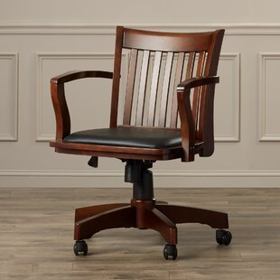 Three Posts Genevieve Mid-Back Deluxe Bankers Chair