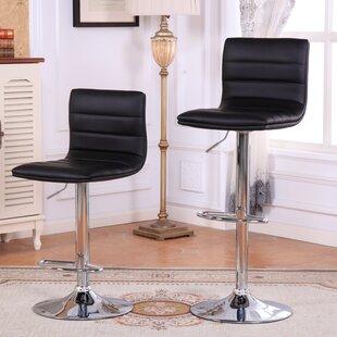 Roundhill Furniture Adjustable Height Swivel Bar Stools (Set of 2)