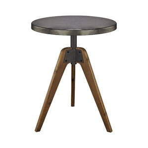Malais Round End Table by 17 Stories