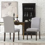 Rexroad Linen Upholstered Side Chair Parsond Chair Dining Chair (Set of 2) by Alcott Hill®