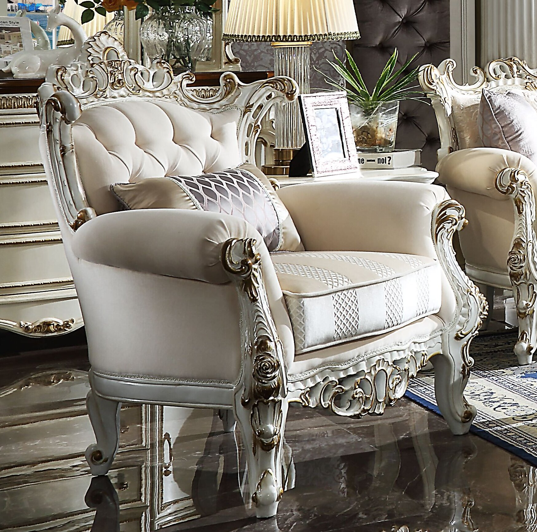 Beige Extra Deep Over 35 Accent Chairs You Ll Love In 2021 Wayfair