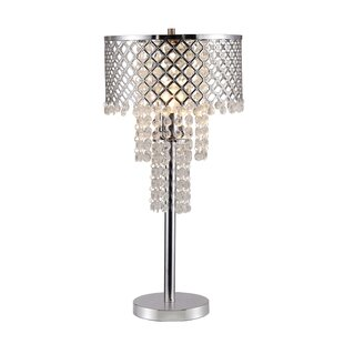 Comparison Vincenza Crystal on Mesh 28 Table Lamp By House of Hampton