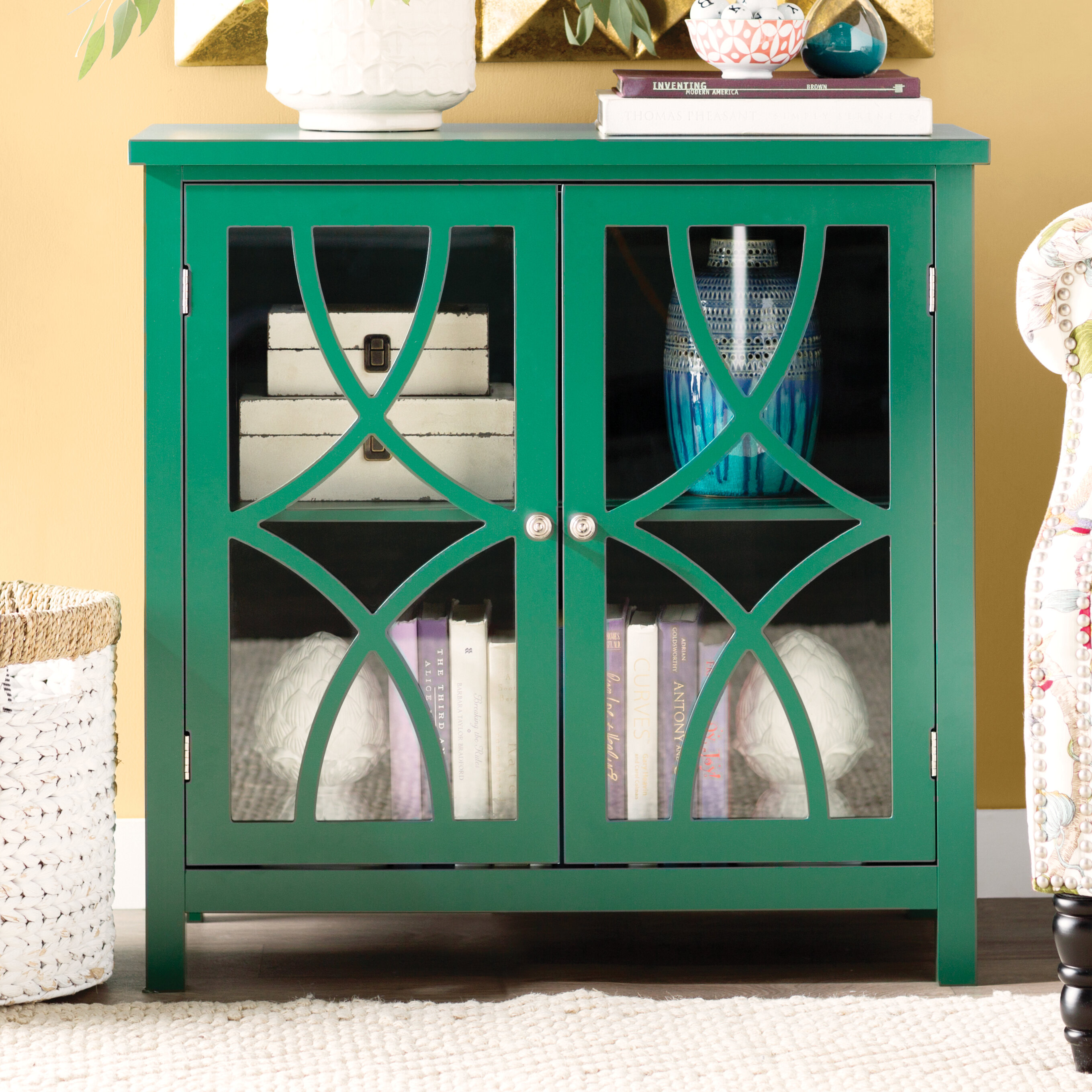 Three Posts Henley Display Accent Cabinet & Reviews   Wayfair