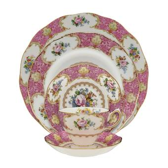 Royal Albert Miranda Kerr 4 Piece Bone China Dinnerware Set Service For 4 Wayfair