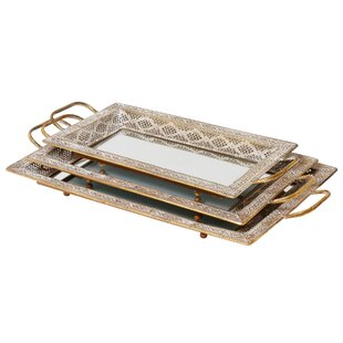 Latifa 3 Piece Serving Tray Set By Mindy Brownes