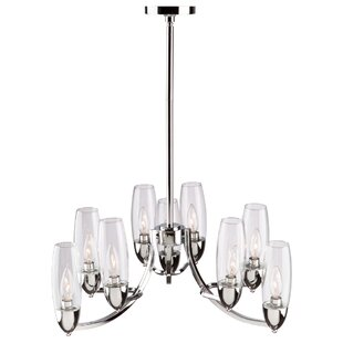 Brayden Studio Thoma 9-Light Shaded Chandelier