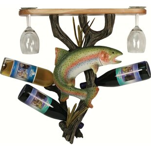 Shiey Trout 3 Wine Bottle Rack by Millwoo..