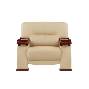Latitude Run Lipson Wood Arm Armchair