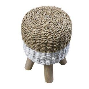 Bria Round Basketweave Stool By House Of Hampton