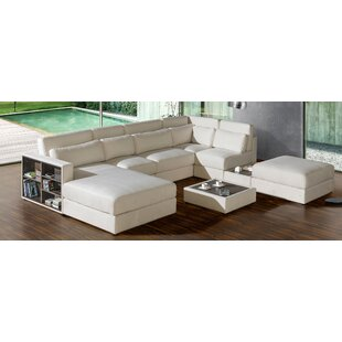 Brayden Studio Chapman Reversible Modular Sectional with Ottoman