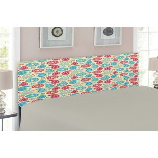 Paisley Upholstered Panel Headboard