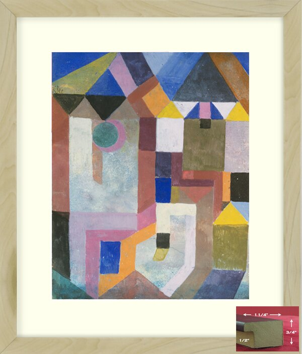 Vault W Artwork Architecture By Paul Klee Picture Frame Print On Paper Wayfair