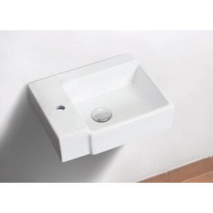 Reviews Ceramic 17 Wall Mount Bathroom Sink By Royal Purple Bath Kitchen