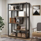 Glenside 6.29 H x 39.37 W Metal Etagere Bookcase by 17 Stories