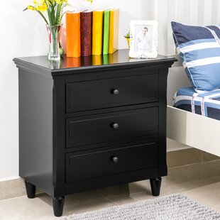 Wickes 3 Drawer Nightstand by Three Posts