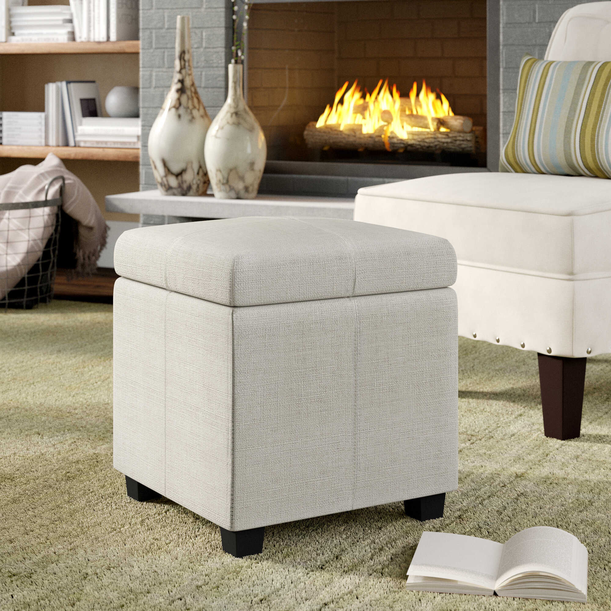 Terrific Zenobia Storage Cube Ottoman Pabps2019 Chair Design Images Pabps2019Com